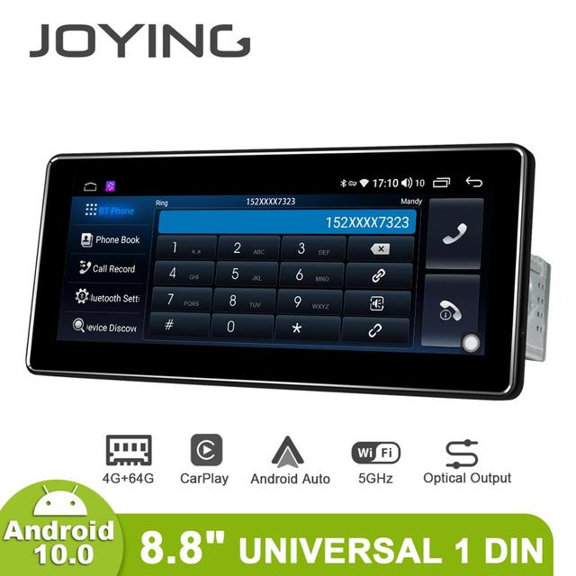 """8.8 """"אנדרואיד 10 רכב רדיו Pantalla 1 דין 4GB 64GB אוניברסלי ראש יחידת Bluetooth מולטימדיה 4G carplay אנדרואיד אוטומטי אופטי פלט"""