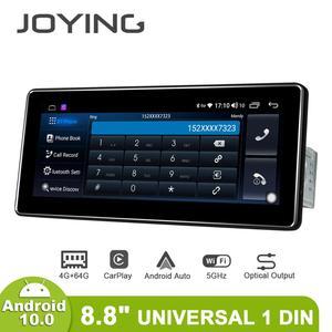 "Image 1 - 8.8""Android 10 Car Radio Pantalla 1 Din 4GB 64GB Universal Head Unit Bluetooth Multimedia 4G Carplay Android Auto Optical Output"