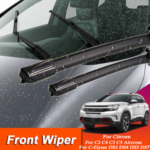 Image 1 - 2 adet araba sileceği Blade cam silecekleri Citroen c elysee için C5 C4 Aircross DS5 DS7 C2 C3 C5 kauçuk otomatik silecek harici aksesuarı