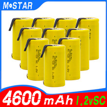 High quality SC Ni-CD battery 4600mAh 1.2V rechargeable battery with for electric drill for bosch Hitachi dewalt for power tools(China)