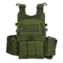 العسكرية التكتيكية سترة Airsoft سترة صيد في الهواء الطلق الرجال وحدات سترة مول القتالية الاعتداء لوحة الناقل مع جيب الترطيب