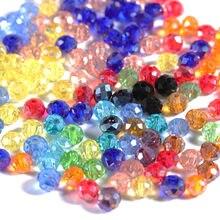 145pcs4 6 8mm czeski luźne Rondelle kryształowe koraliki do tworzenia biżuterii splot krzyżowy dmc AB kolor Spacer Faceted paciorki szklane hurtownie