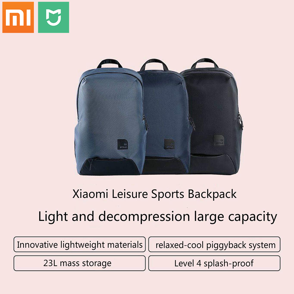 New Xiaomi mijia Fashion School Backpack Bag Durable Waterproof Outdoor Suit For 15 6 Inch Laptop Computer