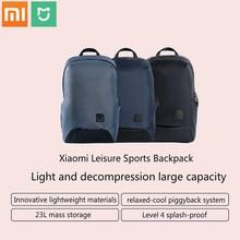 حقيبة ظهر مدرسية جديدة من شاومي mijia حقيبة ظهر متينة مقاومة للمياه خارجية للكمبيوتر المحمول 15.6 بوصة