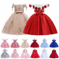 Nueva niña 2019 vestido de tutú de princesa dolce e bella moda genealogia flor chica abito da sposa chica vestido de Navidad