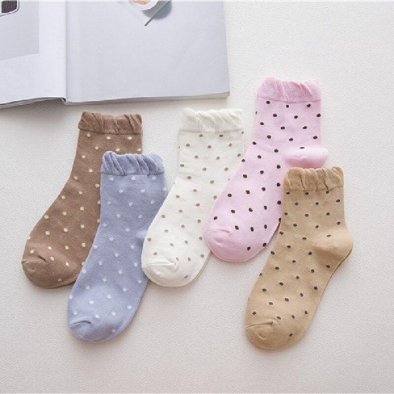 Bubble Mouth Dot Medium Tube Cotton Socks Cotton Socks Hot Sale Wholesale Socks