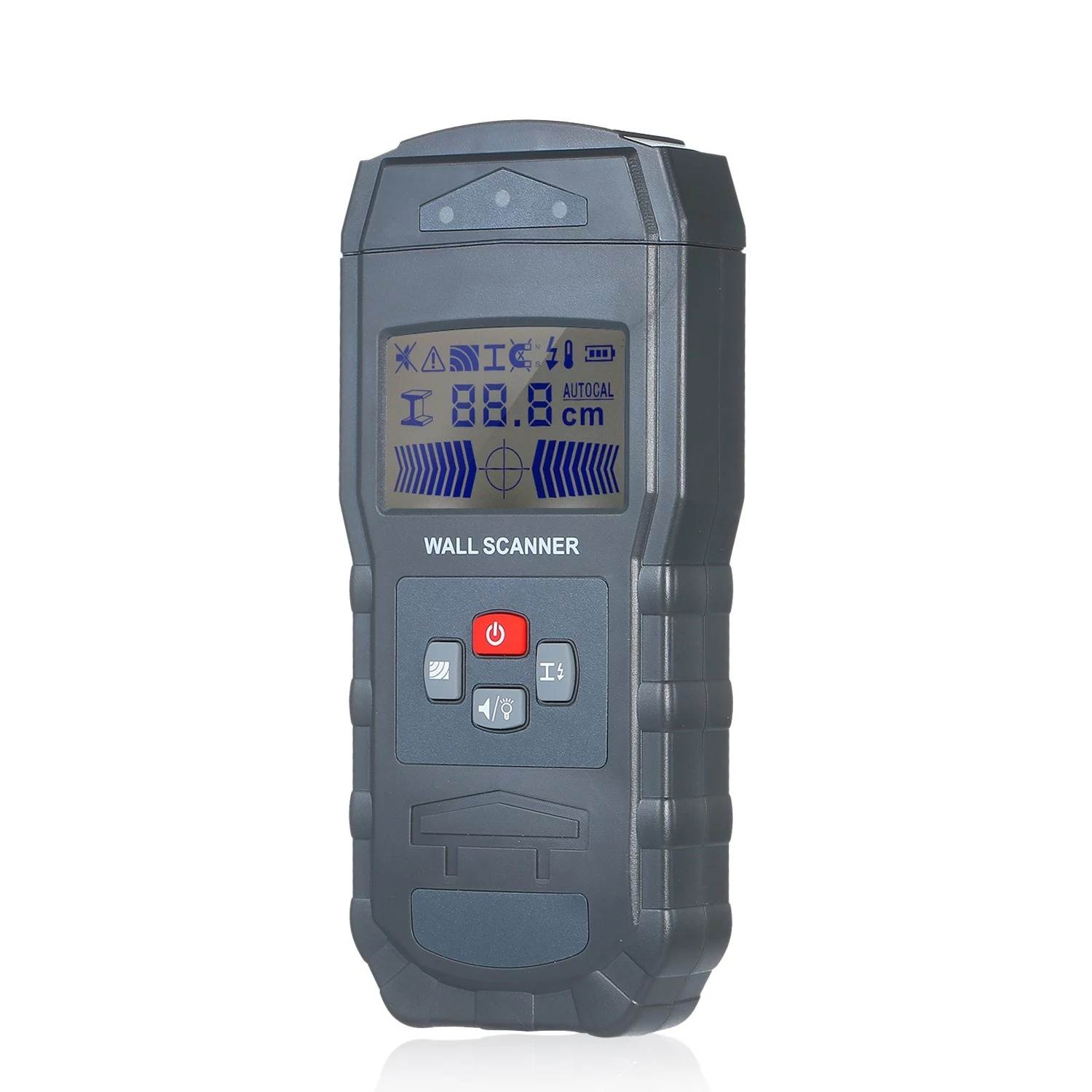 WT55 Metal Digital Wall Scanner Detector Detecting Wire Live Cable Water Pipes Metal Materials Electronic Measuring Instruments