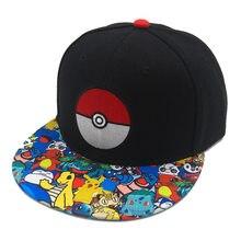 Anime pokemoning boné de beisebol pikachuing chapéu robloxing ajustável cosplay hip hop boné meninas meninos entre figuras brinquedos chapéu presente
