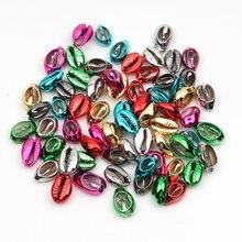 10 Uds mezclado plateado conchas naturales para fabricación de joyería Diy Decoración de casa Coquillage Shell Beach manualidades decorativas de 10-20mm