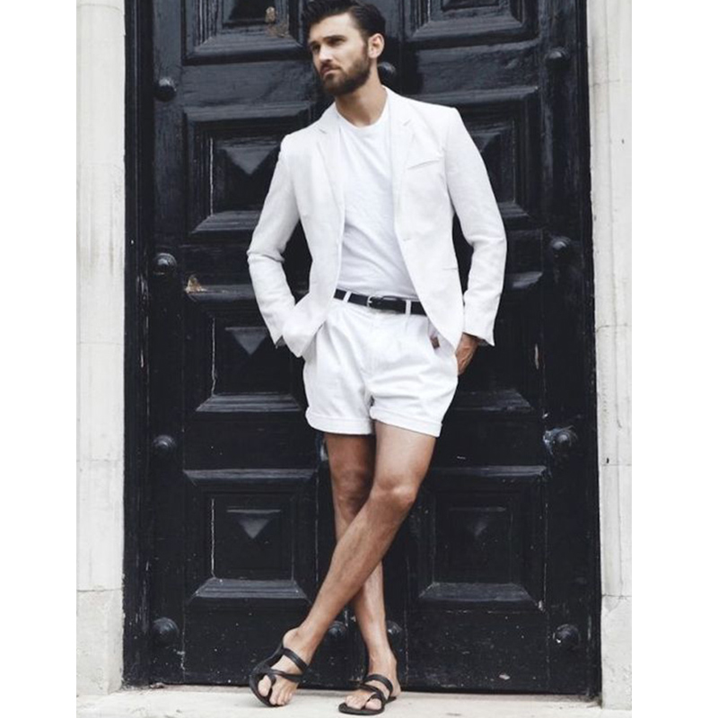 New-Arrival-White-Summer-Short-Mens-Suits-for-Beach-with-Short-Pants-2-piece-Male-Blazer