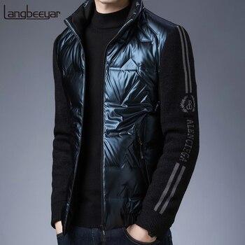 2021 Top Grade New Brand Casual Fashion Shiny Bubble Luxury Mens Down Winter Jacket Windbreaker Streetwear Coats Men's Clothing