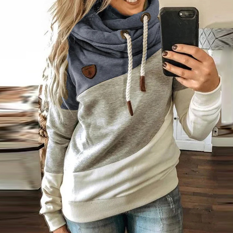 5XL Leopard Patchwork Hooded Sweatshirt Women 2020 Autumn Winter Long Sleeve Hoodies tops Female Drawstring pullovers Harajuku 5