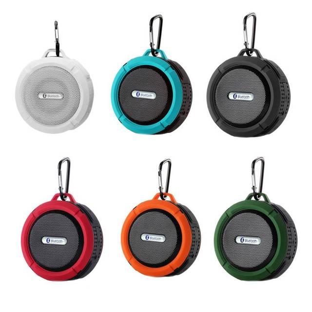 Altavoz C6 con Bluetooth, caja de sonido impermeable para exteriores, soporte de caja de sonido inalámbrico, tarjeta TF
