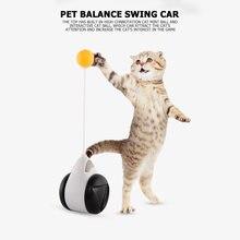 Gobelet balançoire jouets pour chats chaton interactif Balance voiture chat chassant jouet avec boule d'herbe à chat drôle produits pour animaux de compagnie