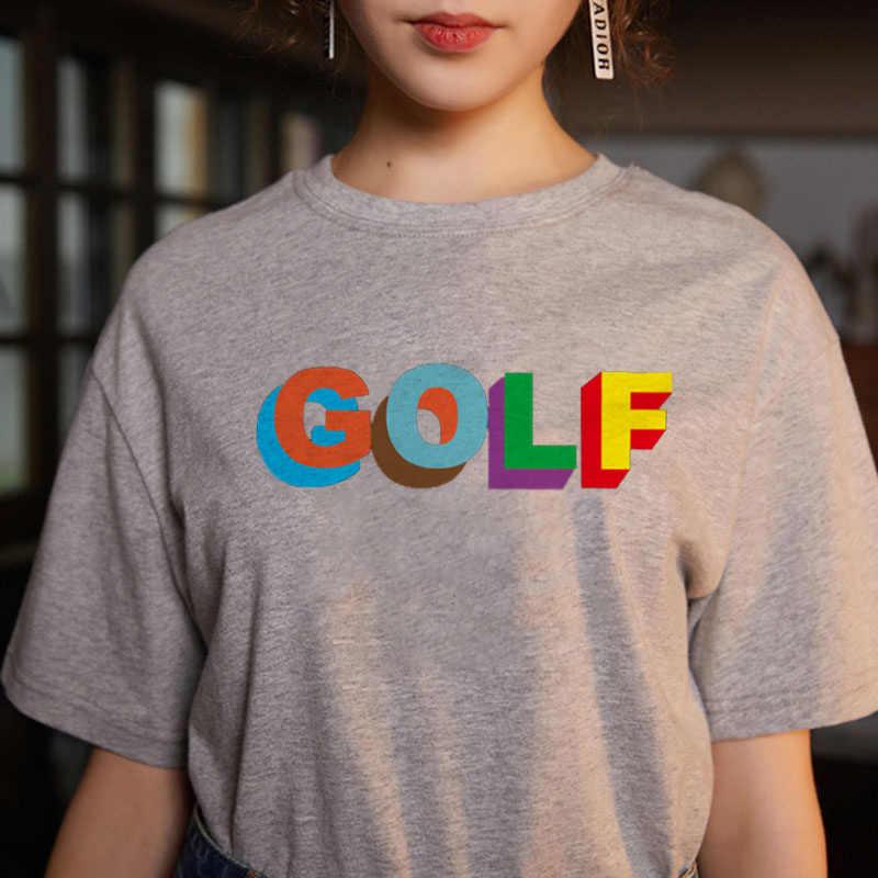 Golf Kawaii imprimir T Shirt mujeres 90s Harajuku Ullzang moda camiseta gráfica Linda camiseta de dibujos animados estilo coreano camisetas superiores Mujer