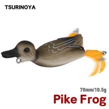 TSURINOYA Pike Frog Fishing Lure Duck Soft Lure LY24 7cm 10.5g Spinner Bait Topwater Floating Bionic Swimbait Bass Snakehead
