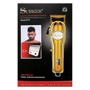 Беспроводная мощная машинка для стрижки волос, светодиодный дисплей, профессиональный триммер для волос для мужчин, машинка для стрижки волос, регулируемая стрижка