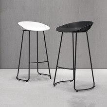 Northern Europe Simple Bar Furniture Iron Light Luxury Bar Chair Coffee Shop Leisure Front Desk High Stool Designer Bar Stool