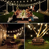 5M 7M 10M Solar Lamp Crystal Ball LED String Lights Flash Waterproof Fairy For Outdoor Garden Christmas Wedding Decoration promo