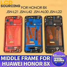 Original Middle Frame for Huawei Honor 8x Front Frame JSN L21 L42 AL00 L22 Middle Frame Bezel Housing Replace With Side Keys