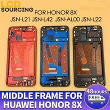 Orijinal orta çerçeve için Huawei onur 8x ön çerçeve JSN L21 L42 AL00 L22 orta çerçeve çerçeve konut yerine yan tuşları