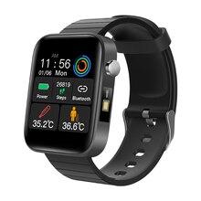 "Fitness Bracelet 1.54"" Full Touch Body Temperature Measure Heart Rate Blood Pressure Oxygen Smart Watch for Men Women T68"