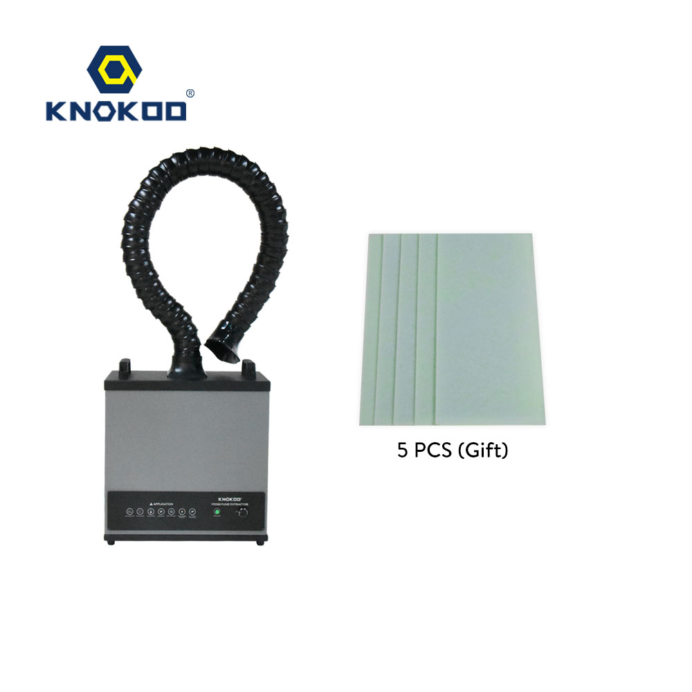 KNOKOO Fume Extractor For Soldering Iron Work ,Laser Smoke Absorber Beauty Salon