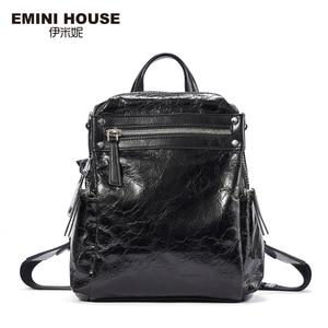 Image 2 - EMINI ev Punk tarzı kadın sırt çantası çoklu giyen yöntemleri kadın omuzdan askili çanta gençler için sırt çantaları kız çocuk okul çantası