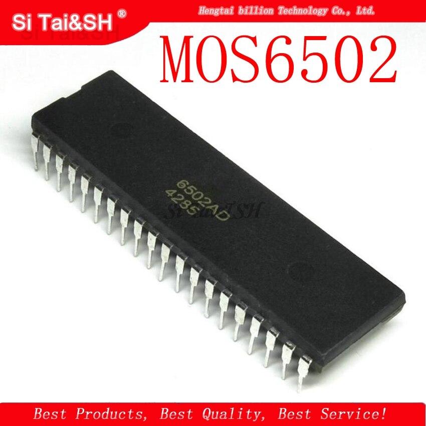 1pcs/lot Mos 6502 MOS6502 6502AD R65C02AP MOS-6502 6502B = UM6502 SY6502 DIP-40