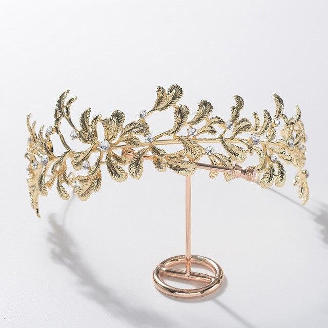 Diadème de mariée Baroque en alliage doré