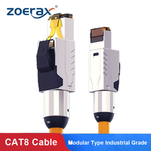 Zoerax Cat8 Ethernet Patch Cable S/FTP 22AWG Screened Solid Cable | 2000Mhz (2Ghz) up to 40Gbps | Future 5th-Gen Ethernet LAN