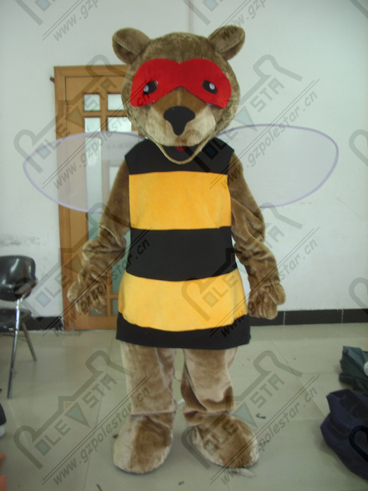 quality mask disguise bear mascot  costumes cartoon honey bee mascot design