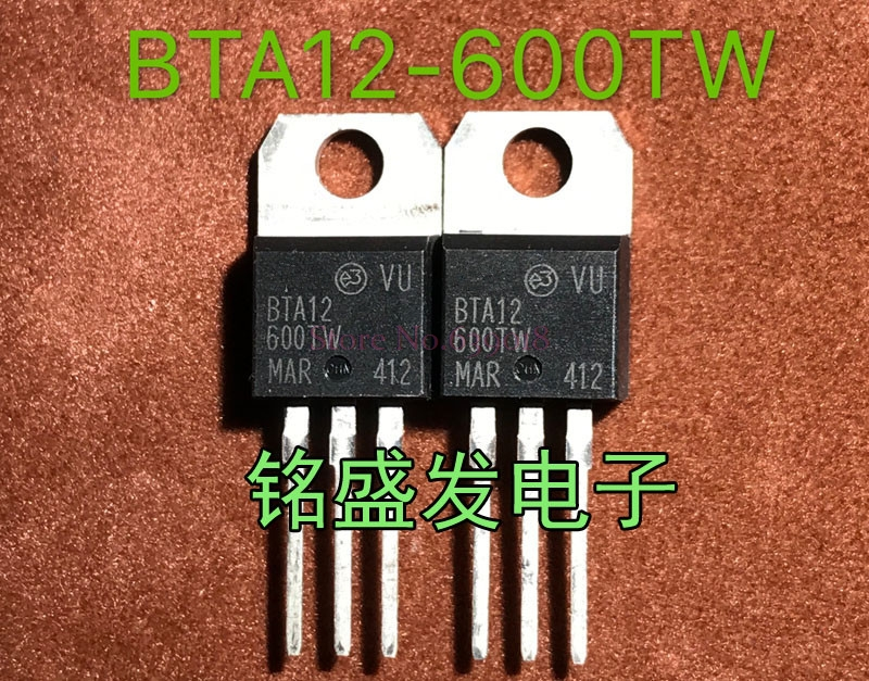 10pcs/lot BTA12-600TW BTA12-600 BTA12600TW 600V 12A TO-220