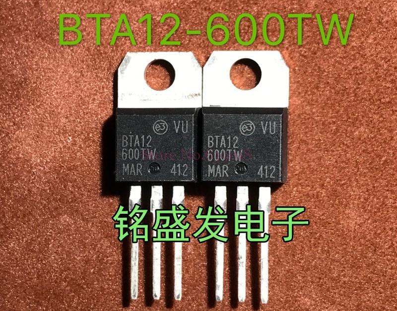 10pcs/lot BTA12-600TW BTA12-600 BTA12600TW 600V 12A TO-220