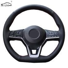 Funda de volante para Nissan x trail, protector de cuero de fibra suave para volante de Nissan Qashqai 2017 Rogue (Sport) 2009 2016