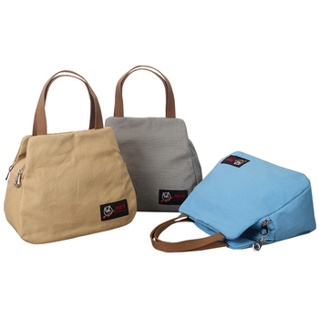 Fashion Women Shoulder Bag Canvas Shopping Bags Multifunction Portable Female Handbag Large Capacity Messenger Bag Durable Solid