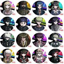 Insignia de Anime Danganronpa, Monokuma, Naegi, Makoto, kikigiri, Kyouko, Maizono, Sayaka, iconos