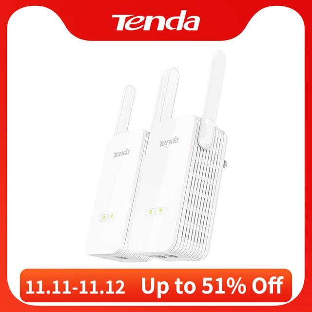 1Pair Tenda PH15 1000Mbps Powerline Ethernet Adapter,PLC Network Adapter,Wireless WIFI Extender,Homeplug AV,Plug and Play