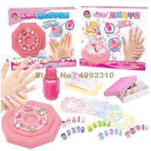 Наклейки для ногтей маникюра Лак для ногтей, набор для рисования, волшебная яркого цвета для маленьких девочек ролевые игры дом игрушка