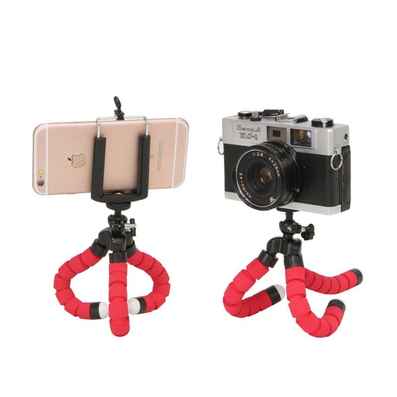 1 Pcs Elastic Sponge Octopus Sponge Mini Tripod For IPhone Mini Camera Tripod Phone Holder Clip Holder Convenient And Practical