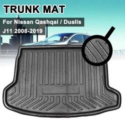 Tylna mata do bagażnika Liner Trunk mata podłogowa podkładka wykładzinowa maty Mud Kick akcesoria samochodowe dla Nissan Qashqai Dualis J11 2008-2019