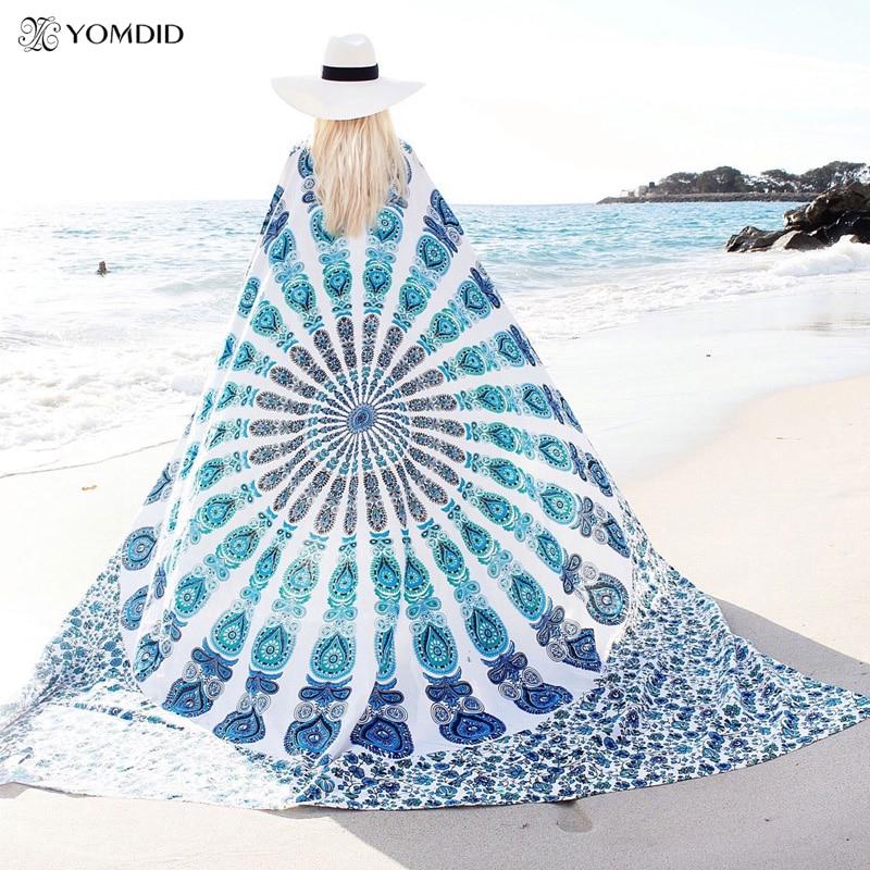 Mandala indiana tapeçaria tapeçaria tapeçaria multifuncional boho impresso colcha capa yoga tapete cobertor piquenique pano