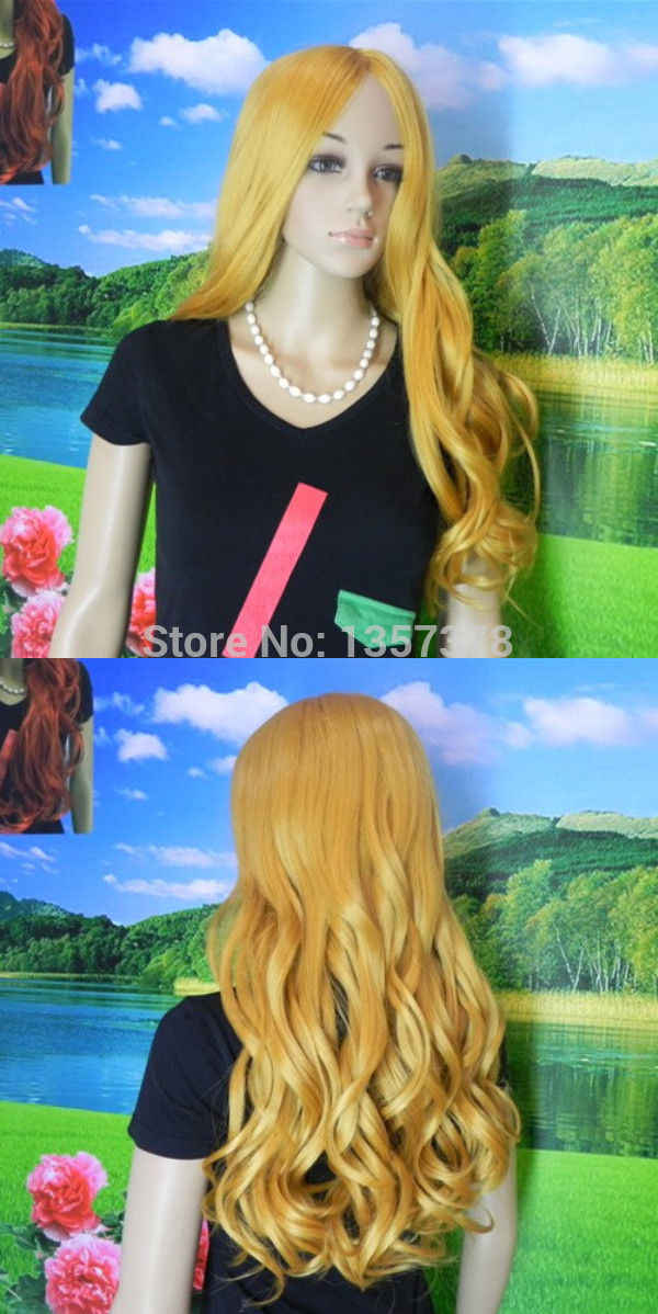 Bjc 00807 Новый Косплей Marisa парик Золотой светильник тон Kotobuki Tsumugi Резные длинные вьющиеся волосы
