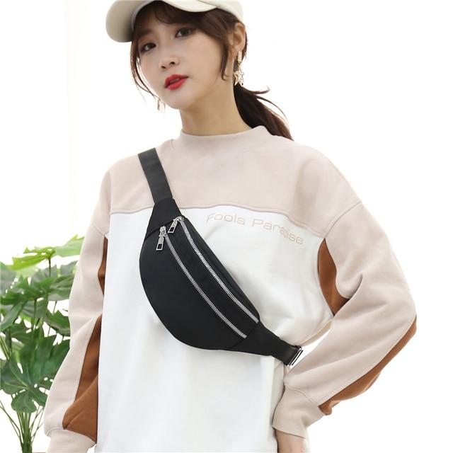 Waist Bag Women Fanny Pack Oxford Female Hip Bum Bag Men Banana Bag Women`s Belt Pocket Ladies Belly Money Pouch Fashion Purse 6