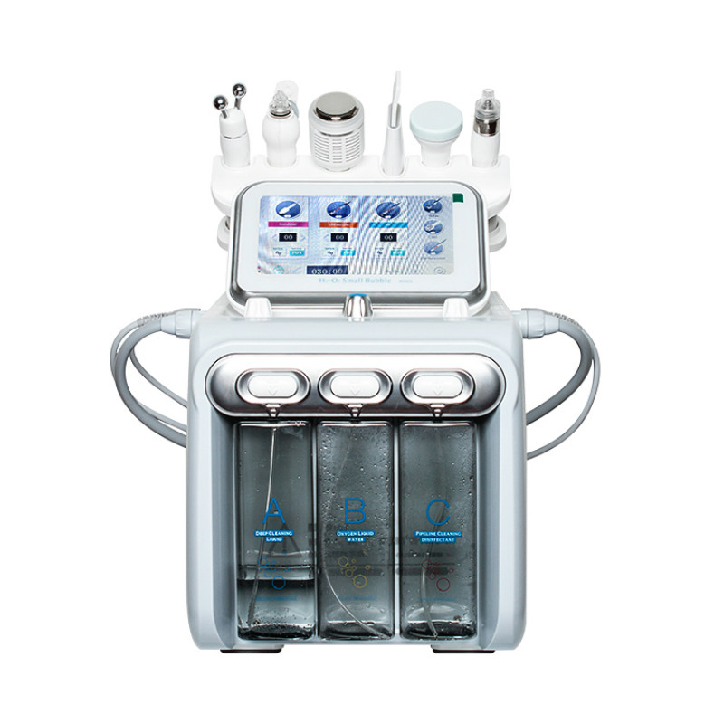 Professional Hydro Skin Care Machine Facial Aqua Peel Big Bubble Acne Treatment Spray Oxygen Waesen 6 In 1 Machine
