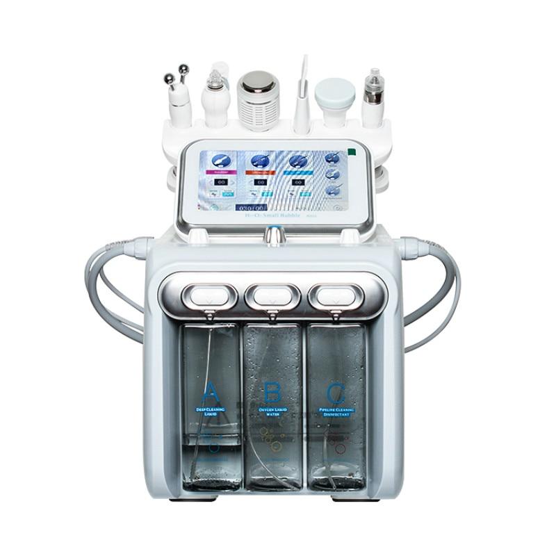 Professional Hydro Skin Care Machine Facial Aqua Peel Big Bubble Acne Treatment Spray Oxygen Waesen 6 In 1 Machine