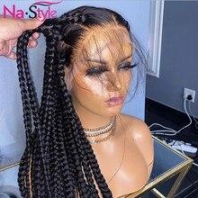 Frente reta do laço perucas de cabelo humano pré arrancadas nós descorados perucas completas do cabelo do laço brasileiro glueless remy cabelo 130 nastyle