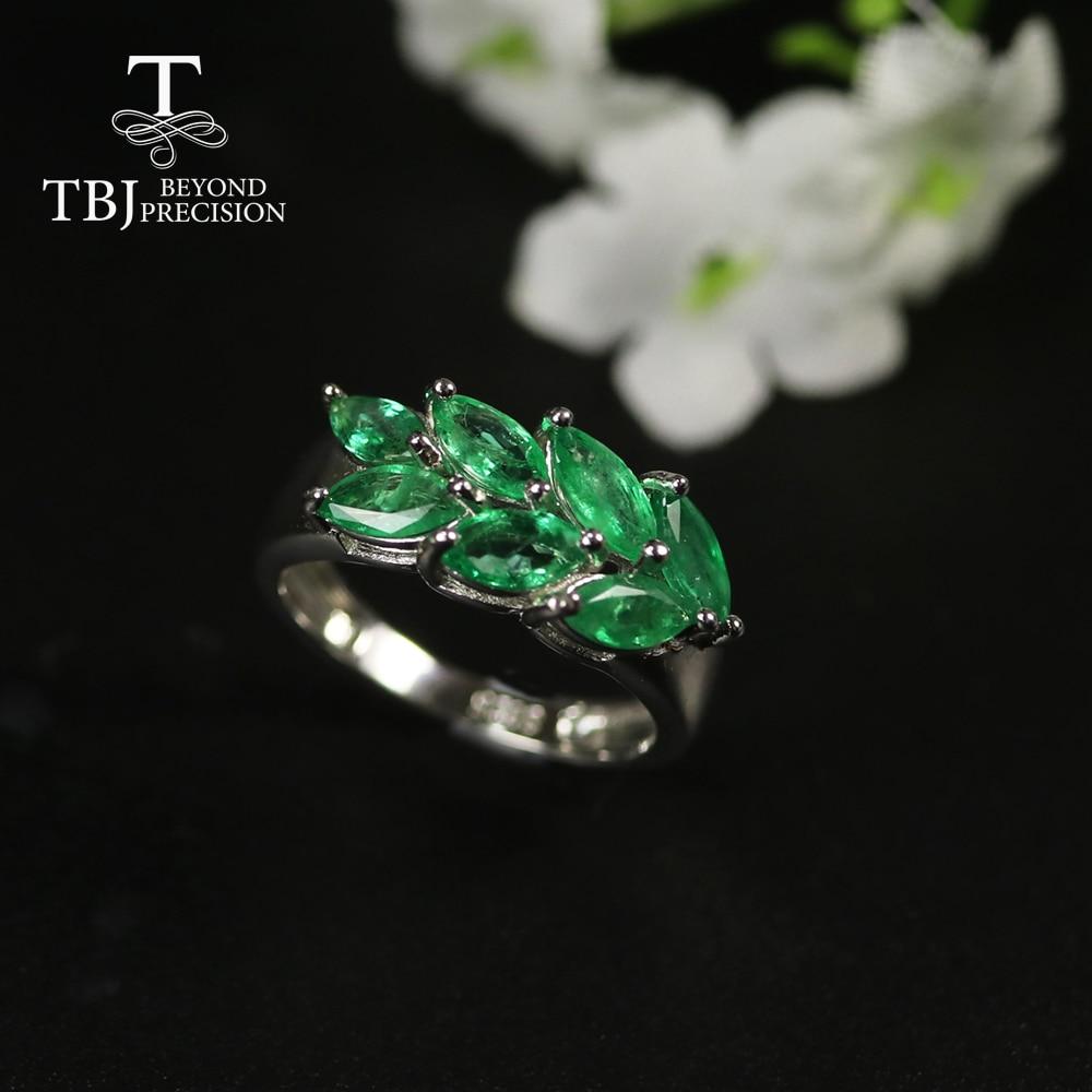 2020 bague émeraude naturelle pierre précieuse vert zambie bijoux émeraude 925 argent sterling bijoux fins pour les femmes meilleur cadeau