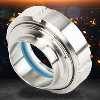 Sanitary 304 Stainless Steel joints Sight Glass Observation Port Live View Mirror Pipe Fittings