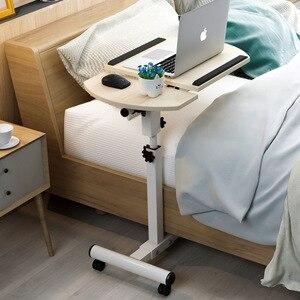 Image 1 - בית מתקפל נייד שולחן מתכוונן לצד שולחן מחשב שולחן מתקפל בית שולחן מחשב נייד מיטת צד מחקר שולחן מטלטלין מיטת שולחן